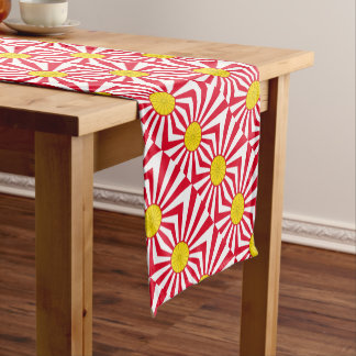 Japanese Flag And Inperial Seal Short Table Runner