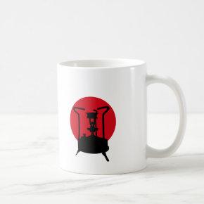 Japanese flag and Paraffin pressure stove Coffee Mug