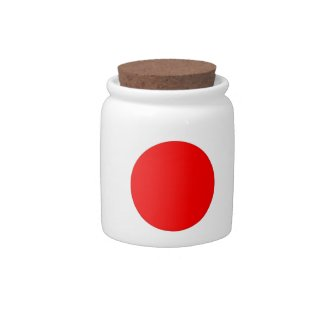 Japanese Flag Candy Dishes