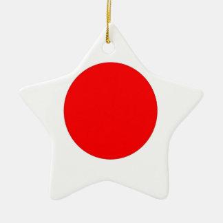 Japanese Flag Ceramic Ornament