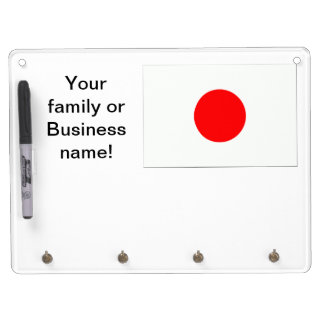 Japanese Flag Dry Erase Board With Keychain Holder