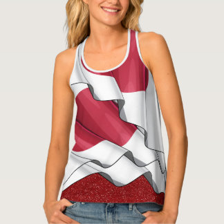 Japanese Flag Flowing Layers Illusion Top