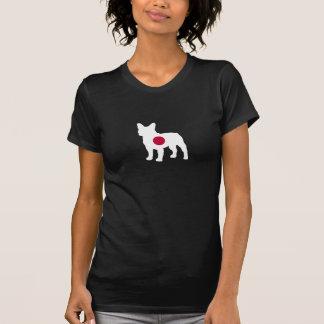 Japanese Flag French Bulldog Silhouette T-Shirt