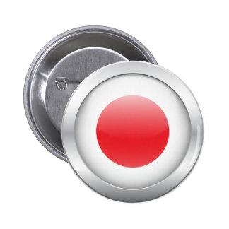 Japanese Flag in Orb 2 Inch Round Button