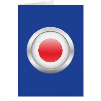Japanese Flag in Orb Greeting Card