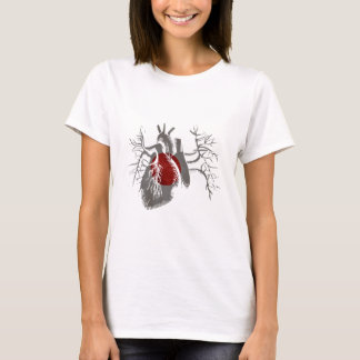 Japanese Flag in Real heart T-Shirt
