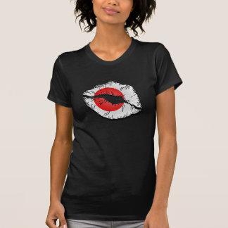 Japanese Flag Lips T-Shirt