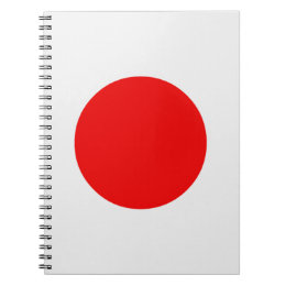 Japanese Flag Notebook