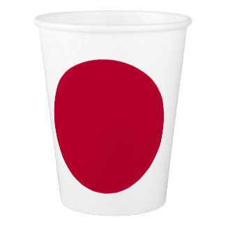 Japanese flag paper cup