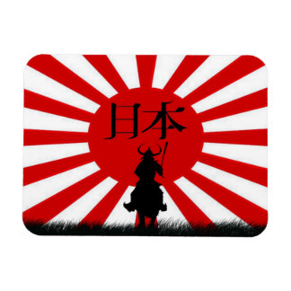 Japanese Flag Samurai Warrior Nippon Magnet
