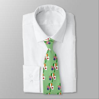 Japanese Flag Shamrock Neck Tie