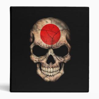 Japanese Flag Skull on Black Vinyl Binders