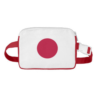 Japanese flag waist bag