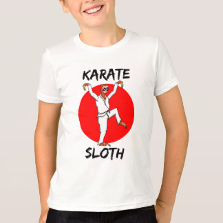 Japanese Flag With Karate Sloth T-Shirt