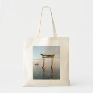 Japanese Floating Torii Gate at a Shinto Shrine Tote Bag