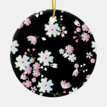 japan, japanese, blossom, floral, pink, bueatiful, cute, flower, design, traditional, vintage, spring, feminin, pattern, asia, oriental, china, chinese, black, cool, graphic, cherry-blossom, nature, beauty, beautiful, illustration, cherry blossom, feminine, Ornament with custom graphic design