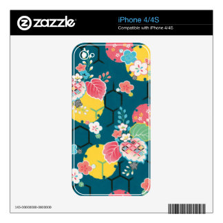 Japanese floral geometrical pattern iPhone 4S decals