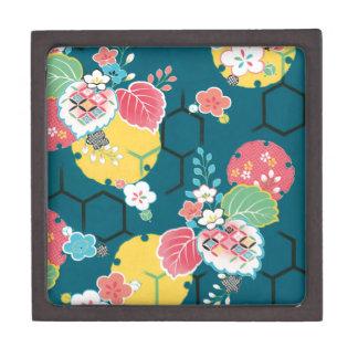 Japanese floral geometrical pattern premium gift box