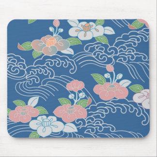 Japanese Floral Pattern Mousepad