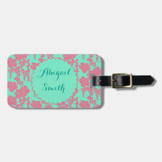 Japanese Floral Pattern Personalized Luggage Tag