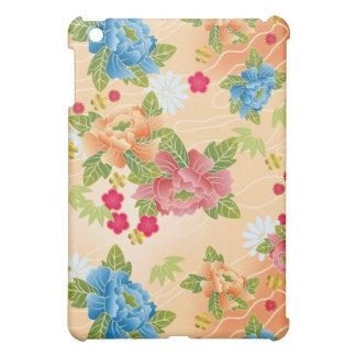 Japanese floral pink iPad mini case