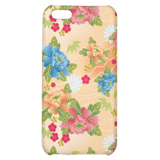 Japanese floral pink pattern iPhone 5C cases