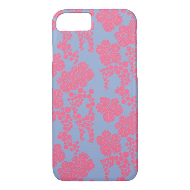 Japanese Floral Print - Pink & Purple Phone Case