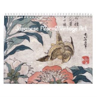 Japanese Floral Vintage Art Calendar