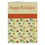 Japanese Flower Birthday Card