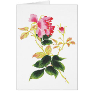Japanese Flower Card