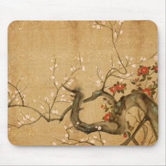 Japanese Flower Garden Mouse Pad