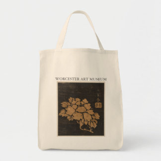 Japanese Flower Grocery Tote Canvas Bags