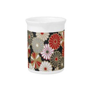 Japanese flower pattern vol.1 beverage pitcher