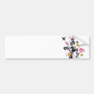 Japanese flowers and birds bumper sticker