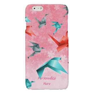 Japanese Flowers & Origami Cranes iPhone 6/6 Plus Glossy iPhone 6 Case