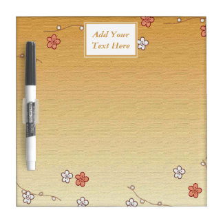 Japanese Flowers Small Dry Erase Board