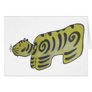 Japanese Folk Art Tiger Card