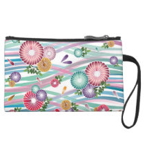 Japanese Folk Pattern Wristlet