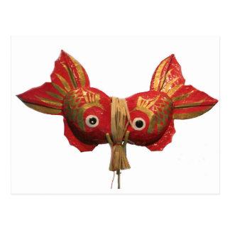 Japanese Folk Toy Sea Breams Congratulatory Wishes Postcard