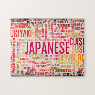 Japanese Food and Cuisine Menu Background Jigsaw Puzzle