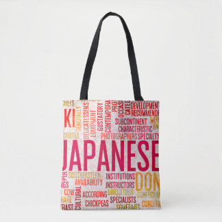 Japanese Food and Cuisine Menu Background Tote Bag