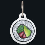 """Japanese Food California Roll Sushi Cali Foodie Pet ID Tag<br><div class=""""desc"""">Pet tag features an original marker illustration of a delicious Japanese food California sushi roll. Simply personalize with your pet&#39;s name and your contact information for a one-of-a-kind dog or cat tag! Don&#39;t see what you&#39;re looking for? Need help with customization? Contact Rebecca to have something designed just for you....</div>"""