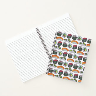 Japanese Food Sushi California Tuna Roll Foodie Notebook