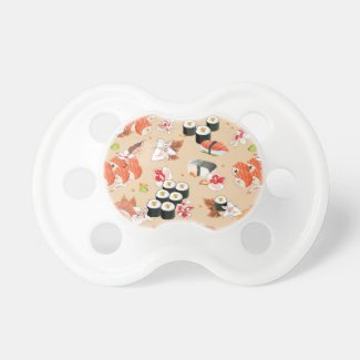Japanese Food: Sushi Pattern 3 Pacifier