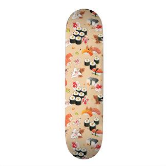 Japanese Food: Sushi Pattern 3 Skateboard Deck
