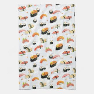 Japanese Food: Sushi Pattern Hand Towel