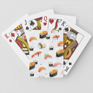 Japanese Food: Sushi Pattern Playing Cards