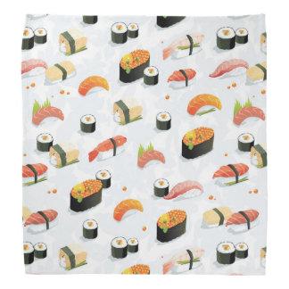 Japanese Food: Sushi Pattern Bandana