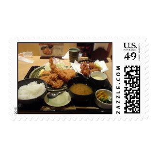 Japanese Food Tonkatsu Deep Fried Pork Stamp