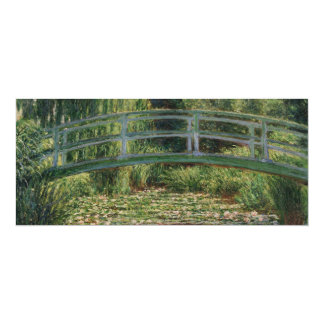 Japanese Footbridge and Water Lily Pool by Monet Card
